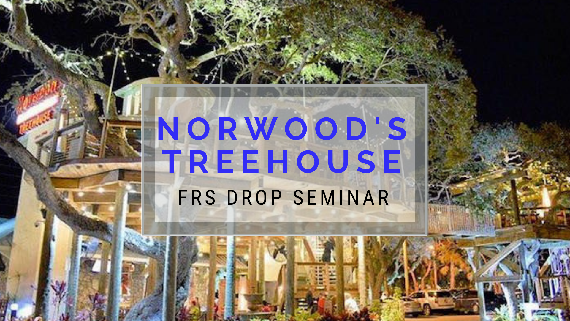 Join us for an FRS DROP Rollover Seminar at Norwood's Treehouse. Anders & Anders Financial Group